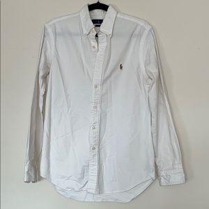Ralf Lauren slim fit white button down shirt 👕